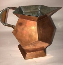 New listing Great Soda Fountain /Drug Store Copper Art Deco Water Pitcher