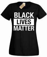 Womens BLACK LIVES MATTER T-Shirt Anti Racism Protest blm Ladies T Shirt