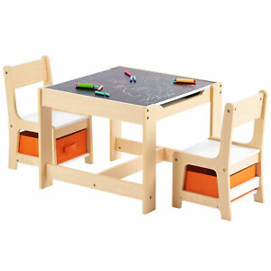 3tlg. Kindersitzgruppe Sitzgruppe Maltisch Kindertisch mit 2 Stühlen Kindermöbel