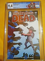 THE WALKING DEAD #50 - CGC 9.4 - WHITE PAGES - NEW SLAB - CUSTOM TWD LABEL - KEY