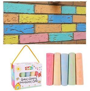 15 Jumbo Chalk Coloured Playground Pavement Childrens Kids Garden Activity Craft