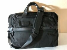 Tumi Alpha 2 Travel & Business Black Nylon Large Screen Laptop Briefcase 26114D2