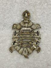 Vintage 1960s Luca L Razza Tortoise Turtle Necklace Pendant