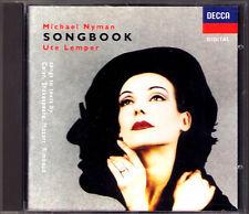Ute LEMPER: MICHAEL NYMAN SONGBOOK Ariel Six Celan Songs L'Orgie Parisienne CD