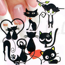 Cartoon Cat Style Nail Art Decal Water Slide Transfer Stickers 11 in1 W22