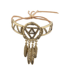 Lux Accessories Burnish Gold Dream Catcher Navajo Bracelet