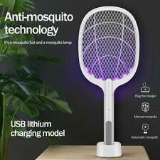 USB Mosquito Swatter Rechargeable Electric Flies Insect Killer Bug Zapper Racket