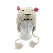 Fun Sheep Handmade Woollen Animal Hat Fleece Lining One Size, UNISEX