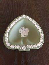Vintage Wedgewood Jasperware Ashtray Sage Green Greek Mythology Acorn Details #