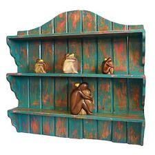 Commercio Equo E Solidale ripiani Bali fatto a mano in legno Shabby Chic Anticato Nuovo di zecca 70 x 67 x 14