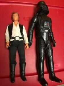 """Vintage 1978 Kenner Star Wars Han Solo & Darth Vader 12"""" Dolls"""