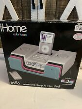 iHome IH56 Radio With An Alarm Clock For iPod Blue Black Pink Colortunes New