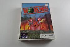Gusanos un equipo 17 juego para Commodore Amiga CD32 probado y en funcionamiento en muy buena condición