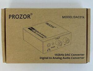 PROZOR 192KHz Digital to Analog Audio Converter - Model DAC01K NEW