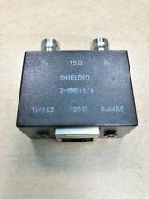 Premium BNC Coax to RJ45 Ethernet Converter Dual Female Balun Adaptor NEW