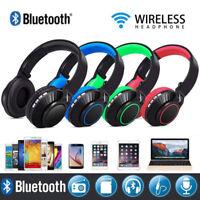 USA Wireless Bluetooth Headphones Foldable Headset Stereo Heavy Bass Earphone