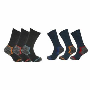 6 Pairs Of Mens Work Socks Robust Heavy Duty Steel Toe Boot Sock Extra Thick