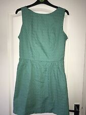 River Island Sz 12 Green Dress Open Back Detail Excellent Condition