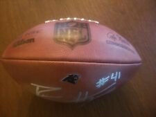 NFL Game Used Issued Carolina Panthers Football Autograph Signed Roman Harper