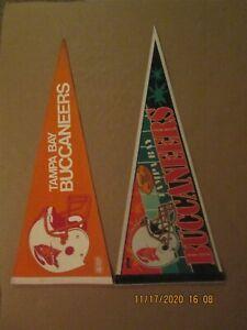 NFL Tampa Bay Buccaneers Vintage 2 Bar & 3 Bar Facemask Team Logo Pennants