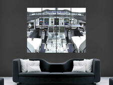 BOEING AIRBUS A380 Jet Cockpit Avion énorme Large Wall Art Poster Photo