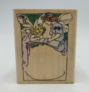 1990's Fairies Frame Vintage Rubber Stamp Stampede Magic Reading