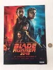 Blade Runner 2049 ODEON Movie Poster A3 Harrison Ford Ryan Gosling Original Deck