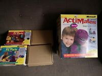 BARNEY ACTIMATES INTERACTIVE TOY 1997 MICROSOFT BOXED / plus ty Pc packs