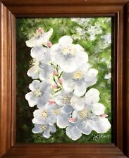 "Original Acrylic Flower Painting ""Old Garden Rose"" 11x14 ~ Signed & Framed 14x17"