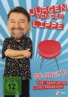 JÜRGEN VON DER LIPPE - SO GEHT'S-DAS KOMPLETTE LIVE-PROGRAMM  DVD  COMEDY  NEU