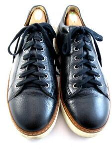 "Allen Edmonds ""PORTER DERBY"" Men's Leather Sneakers 9.5 D  Black  (668)"