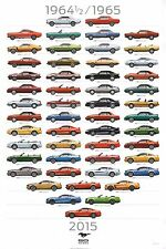 "Ford Mustang ""50 Years"" 12x18"" Art Print - Not A Poster"
