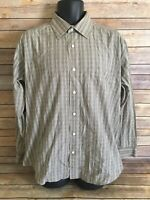 Johnston & Murphy Button Down shirt Size Large Mens Striped Long Sleeve L/S top