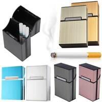 Aluminum Cigar Cigarette Box Bins Holder Tobacco Storage Case