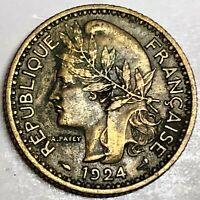 # C9845     TOGO    COIN,     1  FRANC    1924