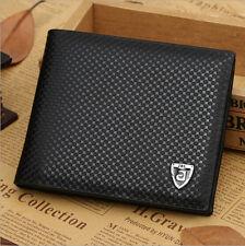 Men's Black Leather Bifold Wallet Pockets ID Credit Card Holder Money Clip Purse