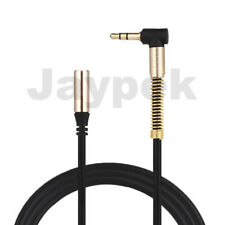 Aux Extension Cable Right Angle Connector 3.5mm Jack Stereo Audio Headphone Lead