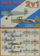 Bücker sparpack c-4 e c-104, confezione doppia, 1:72, plastica, RS-MODEL, NUOVO