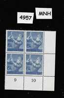 PF06 +  PF14   MNH Stamp block Hitler youth Labor Corps 1943 Third Reich Germany