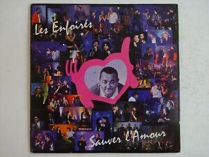 LES ENFOIRÉS : SAUVER L'AMOUR / LA CHANSON DES RESTOS ♦ CD SINGLE ♦