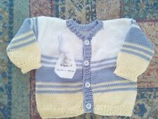Jersey- chaqueta bebé punto. Hecho a mano. Realizado en algodon. 0-3 mese