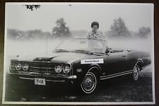 """1968 Mercury Monterey Convertible 390 12 By 18"""" Black & White PICTURE"""