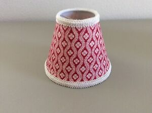 Pierre Deux Lamp Shade Chloe Red Rouge French Country Toile Chandelier Fleur