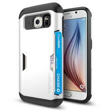 Spigen Galaxy S6 Case Slim Armor CS Card Slider Series Shimmery White
