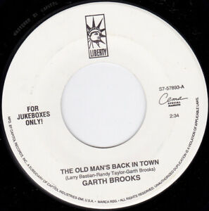 """GARTH BROOKS - The Old Man's Back In Town  7"""""""