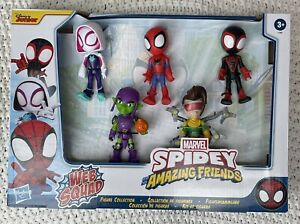Marvel Spidey & His Amazing Friends WEB SQUAD 5 Figures Ghost Miles Goblin Doc