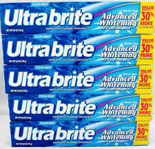 5 ULTRA BRITE TOOTHPASTE ADVANCED WHITENING 6 OZ clean mint