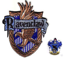 FINE BRITISH EMBROIDERED HARRY POTTER 2-PATCH SET: House of Ravenclaw HOGWARTS