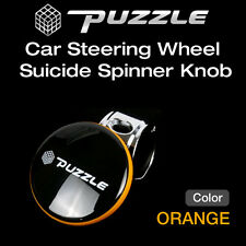 Puzzle Car Steering Wheel Suicide Spinner Knob Power Handle Orange 1ea