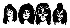 KISS BAND SOLO HEADS ACE PETER PAUL GENE VINYL CAR TRUCK WINDOW DECAL STICKER
